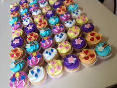 My Little Pony Party- Food Idea- Cutie Mark Cupcakes