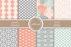 Check out Peachy Collection by pattern pop on Creative Market