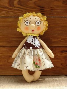 Cloth doll Rag doll gift doll Gift toy Unusual toy for girls