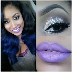 I love this look from @Sephora's #TheBeautyBoard: http://gallery.sephora.com/photo/glitter-eyes-purple-lips-1165