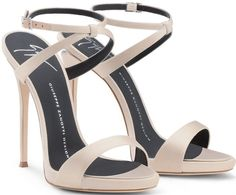 Giuseppe Zanotti 'Dionne' Sandal with Crystals and Sculpted Heel
