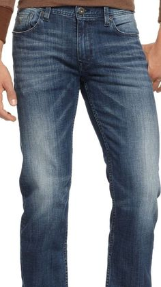 Guess Regular Boot Cut Distressed Men's Stretch Jeans Size 36 X 30 NWT #GUESS #BootCut