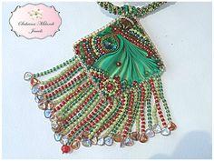 collana in tessitura di perline e seta di SabrinaMilardiJewels