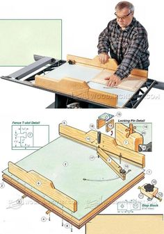 Precision Crosscut Sled Plans - Table Saw Tips, Jigs and Fixtures | WoodArchivist.com