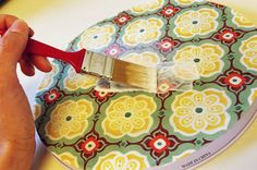 Tutorial: decoupage burner covers to make magnetic boards!