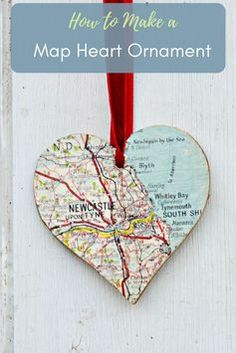 Make your loved one something gorgeous with lovely framed personalized map gift. Make the map heart with maps of places that are special to you and then place them in a painted Ikea frame. A great idea, for a Valentine's, birthday or anniversary gift.