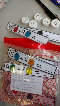 La clase de Vane: JUEGOS VIAJEROS II (actualizado) Kindergarten Crafts, Preschool Learning Activities, Kindergarten Classroom, Preschool Activities, Teaching Math, Kindergarten Preparation, Math Groups, Grande Section, Learning Numbers