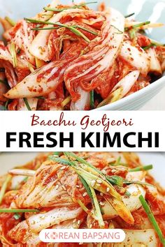 Geotjeori is quick, fresh kimchi that's made to be eaten without fermentation. It's very easy to make and goes especially well with Korean BBQ meat. Salmon Recipes, Meat Recipes, Asian Recipes, Vegetarian Recipes, Cooking Recipes, Healthy Recipes, Vegetarian Korean Food, Napa Cabbage Recipes, Chinese Recipes