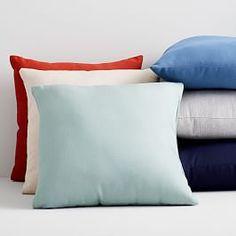 Sunbrella Indoor/Outdoor Canvas Pillow, Set of Heather Beige, Outdoor Cushion Covers, Outdoor Cushions, Outdoor Pillow, Outdoor Fabric, Wash Pillows, Blue Pillows, Throw Pillows, Outdoor Spaces, Indoor Outdoor