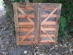 Barn Door Shutters for inside the home, made from recycled barn wood by Creatively Kustomized on etsy