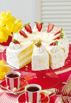 Biskuit-Torte mit weißer Schokolade - Rezepte - bildderfrau.de