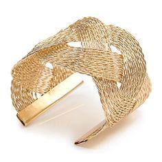 Gold Plaited Cuff - Women   YDE South African Fashion, Gold Wash, Plaits, Perfume, Accessories, Women, Bang Braids, Cornrows, Braids