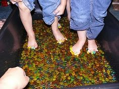 Water Beads!  Buy them at Walmart near the artificial flowers for $2 a package.