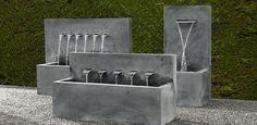Garden Design Plans, Japanese Garden Design, Backyard Garden Design, Outdoor Water Features, Water Features In The Garden, Garden Fountains, Water Fountains, Water Walls, Garden Architecture