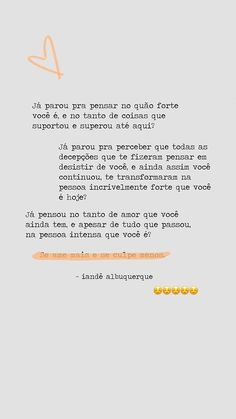 Se ame mais e se culpe menos Ems Quotes, Inspirational Quotes, Be Brave Tattoo, Quotes Lockscreen, Magic Words, Love Your Life, Some Words, Positive Vibes, Sentences
