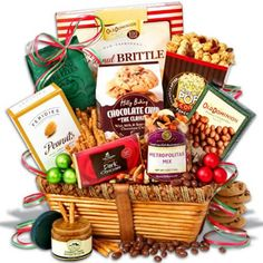 Send Gift Basket, Goodie Basket, Holiday Gift Baskets, Gourmet Gift Baskets, Christmas Baskets, Gourmet Gifts, Food Gifts, Gourmet Foods, Classic Christmas Gifts
