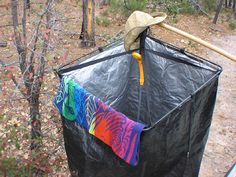 Super cheap & easy camping shower! 1 hula hoop 2 sets of
