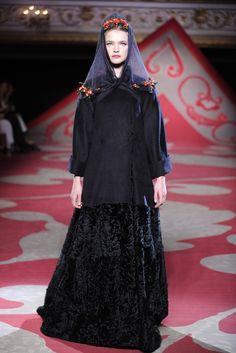 Natalia Vodianova in Ulyana Sergeenko Fall Couture 2012
