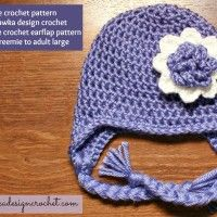 Earflap Hat – Free Crochet Pattern February 11, 2014 by Rhondda