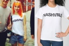 Hayley Williams: Nashville Boots T-Shirt Hayley Williams Style, Her Style, Celebrity Style, Cute Outfits, Celebs, Singer, T Shirts For Women, Nashville, Boots