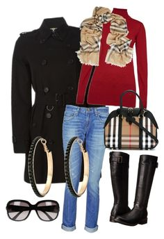 """""""Burberry til hverdags"""" by inger-lise on Polyvore featuring Burberry, rag & bone, Gabriella Rocha, Barbour, GUESS and Gucci"""