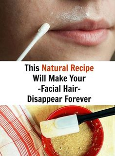 This Natural Recipe Will Make Your Facial Hair Disappear Forever – Page 2 – Fitness Tati Natural Health Tips, Health And Beauty Tips, Natural Skin, Natural Facial, Belleza Diy, Tips Belleza, Beauty Secrets, Beauty Hacks, Unwanted Hair