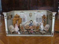 Alter küchenofen ~ Puppenküche puppenstube herd zubehör um 1900 antik dachbodenfund