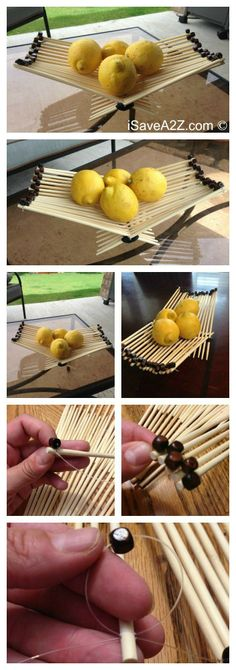 How to Make a Chopsticks Basket with a decorative edge!  #EasyCrafts
