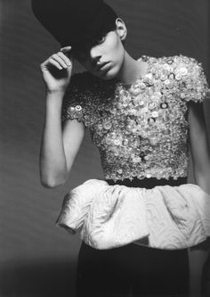 Balenciaga. How detailed. Love the sleeves http://creativelymindful.blogspot.com/