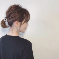 "It can be reasonably possible even if it is short ♡ How to make ""Dadango with Bob"" - LOCARI (Locate) Short Ponytail, Short Wavy Hair, Medium Hair Cuts, Medium Hair Styles, Short Hair Styles, Vintage Hairstyles, Hairstyles Haircuts, Japanese Short Hair, Eva Hair"