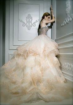 Amazing sequins corset dress with big chiffon skirt