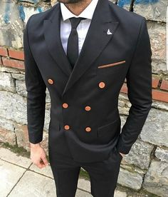 Latest Coat Pant Designs Black Men Suit Formal Business Suits Tuxedo Prom Groom Blazer Tailor Made 2 Piece Jacket+Pant Terno ao Mens Fashion Suits, Mens Suits, Fashion Menswear, Style Masculin, Fitted Suit, Tailored Suits, Formal Suits, Suit And Tie, Gentleman Style