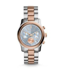 Runway Two-Tone Watch | Michael Kors #jewelry #michaelkors #designer #runway #covetme