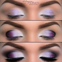 Makeup eyes with lilac and black