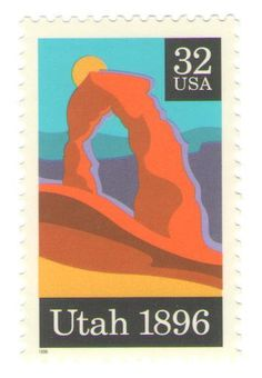 10 Unused 1996 Utah Statehood And Arches Arches Postage Stamps Number 3024