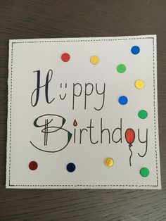 #handlettering #happybirthday Dad Birthday Card, Bday Cards, Funny Birthday Cards, Happy Birthday Drawings, Tarjetas Diy, Fancy Letters, Card Drawing, Message Card, Cute Cards