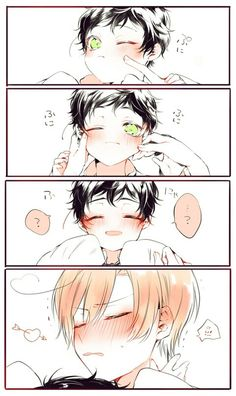 Hetalia Spain Romano<--- Lovi taking care of my little self~ He's really good at taking care of kids~