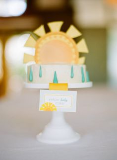You Are My Sunshine birthday cake