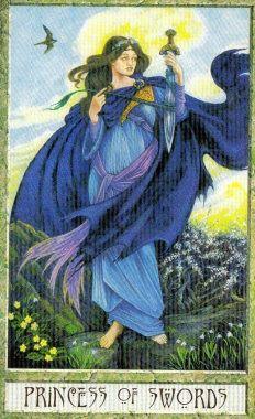 Princess of Swords in the Druid Craft Tarot