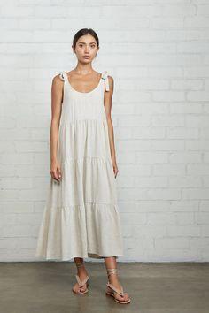 Simple Dresses, Day Dresses, Casual Dresses, Linen Summer Dresses, White Linen Dresses, Loose Dresses, Diy Simple Dress, White Dress, Linen Dress Pattern