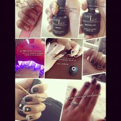 Nailuv Fall French Manicure  Photo by lsbielec #collage #tutorial #nails