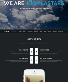 This dark Joomla theme features a one page design, a responsive layout, multi-language support, Twitter integration, RTL language support, Google Maps integration, a portfolio, multiple color schemes, and more.