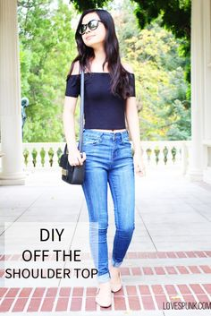 DIY Knit Off the Shoulder Top