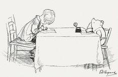 Pooh Writing