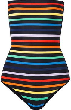 7b0e119dee9247 TM Rio - Paraty striped bandeau swimsuit