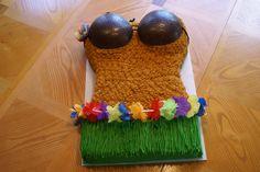 Funny luau cakes | Luau Cake | Addicted to Cakes