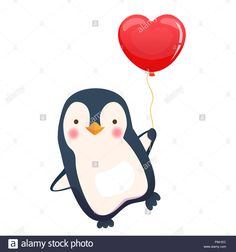 Cute Animal Illustration, Penguins, Snowman, Disney Characters, Fictional Characters, Balloons, Cute Animals, Google, Image
