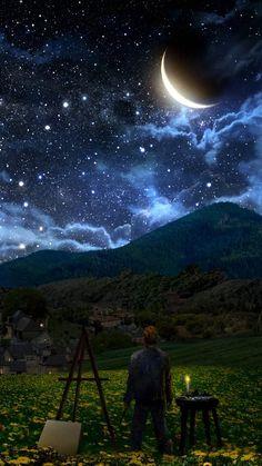 Starry sky Iphone wallpaper