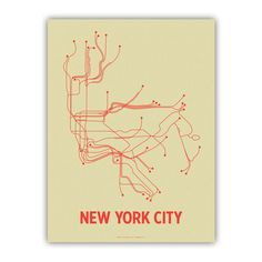 Line Posters | NYC Screen Print Cement Green  I just enjoy the simplicity of the image but how informative it is