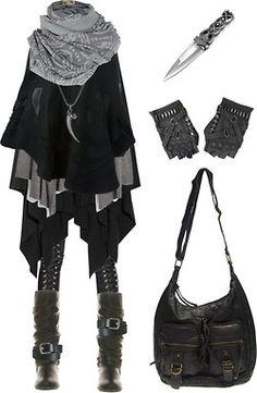 polyvore dark mori ninja goth gothgoth shortcuttothestars